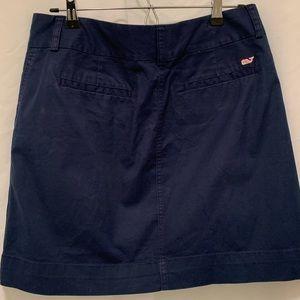 Vineyard Vines navy chino skirt, size 8